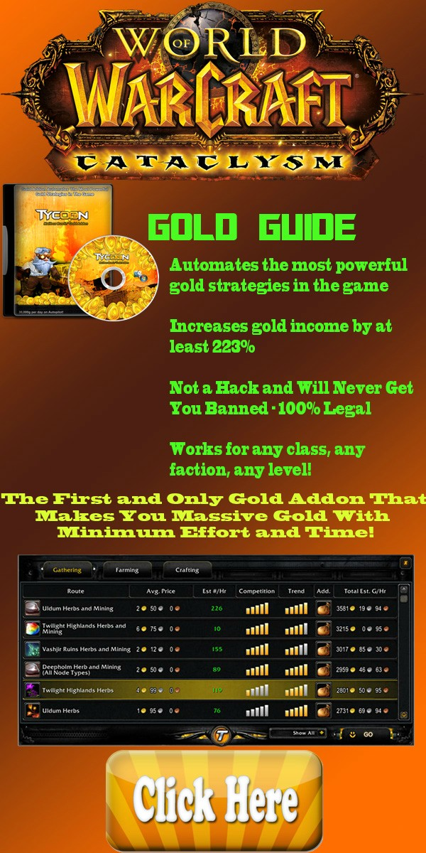 TaFCc How To Make Tons of Gold In WoW? Tycoon World of Warcraft Gold Addon Review