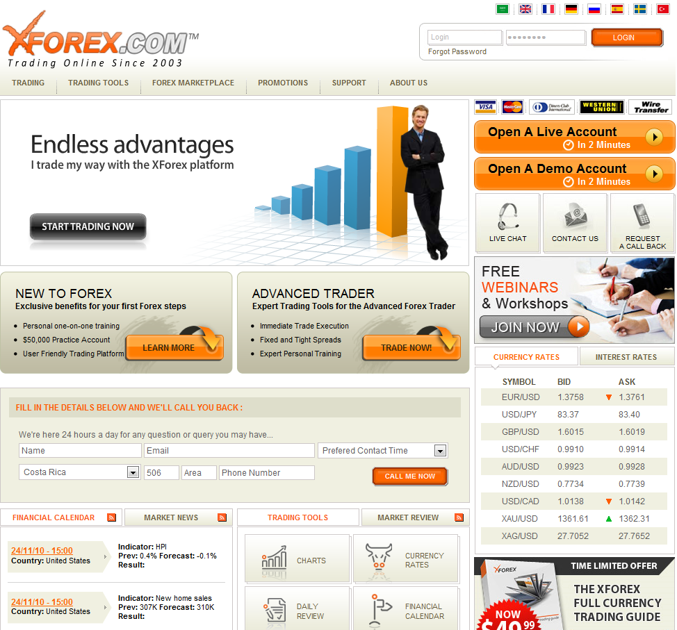 World top forex brokers