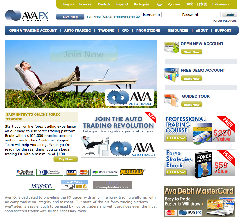 avafxhome Top 10 Forex Brokers