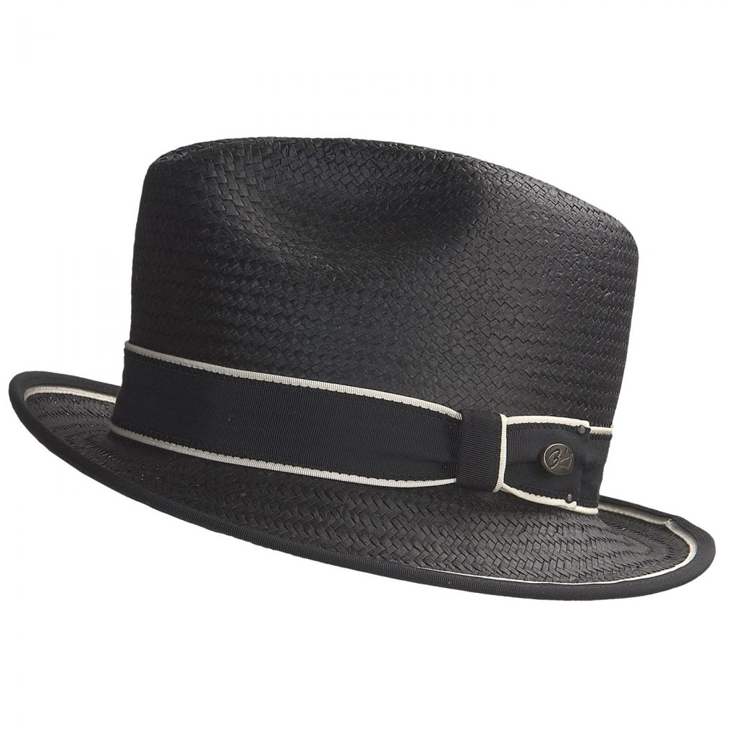 bailey-of-hollywood-drake-straw-fedora-hat-for-men-in-black-ivory What Are The Latest Fashion Trends of Men's Hats?