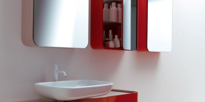 Bathroom In Red Black And White Pretty Fabulous Colorful