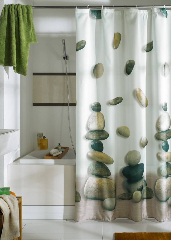 beautiful-Shower-Curtain-3 Fabulous And Stunning Colorful Bathrooms to Renew Yours