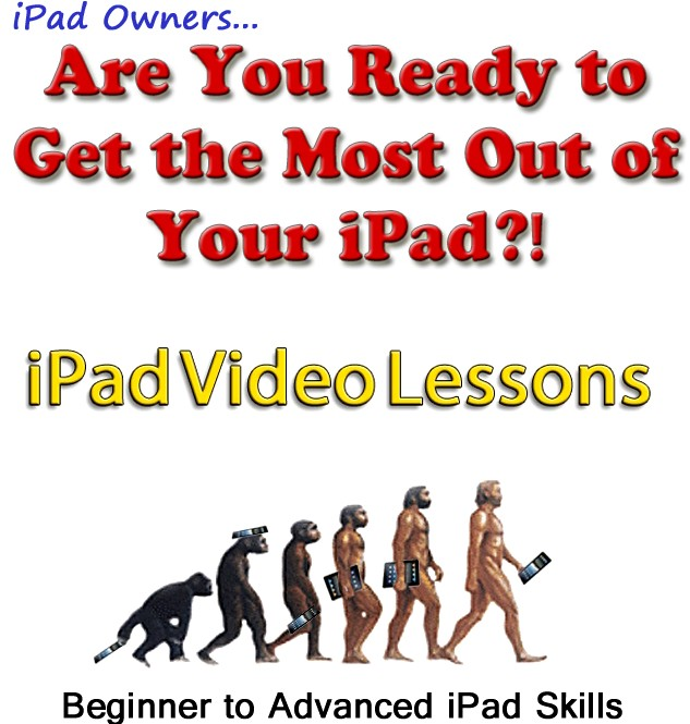 "beginners-to-advanced Discover your iPad with ""ipad Video Lessons"""