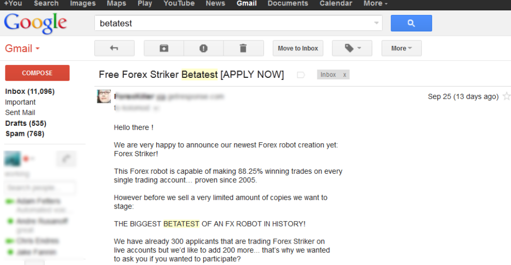 betatest Forex Bulletproof 2.0 Patented Striker Technology