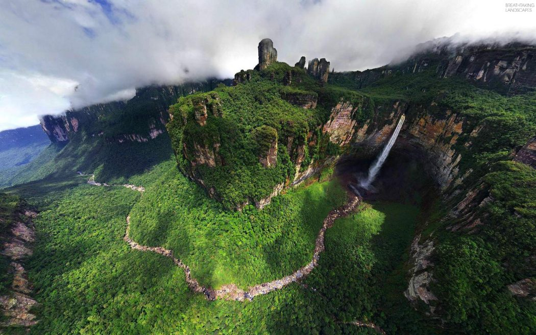 breathtaking landscapes angel fall dragon falls venezuela