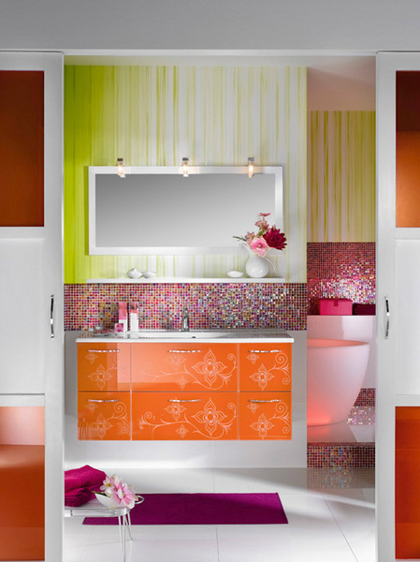 colorful-bathroom-for-girls Fabulous And Stunning Colorful Bathrooms to Renew Yours