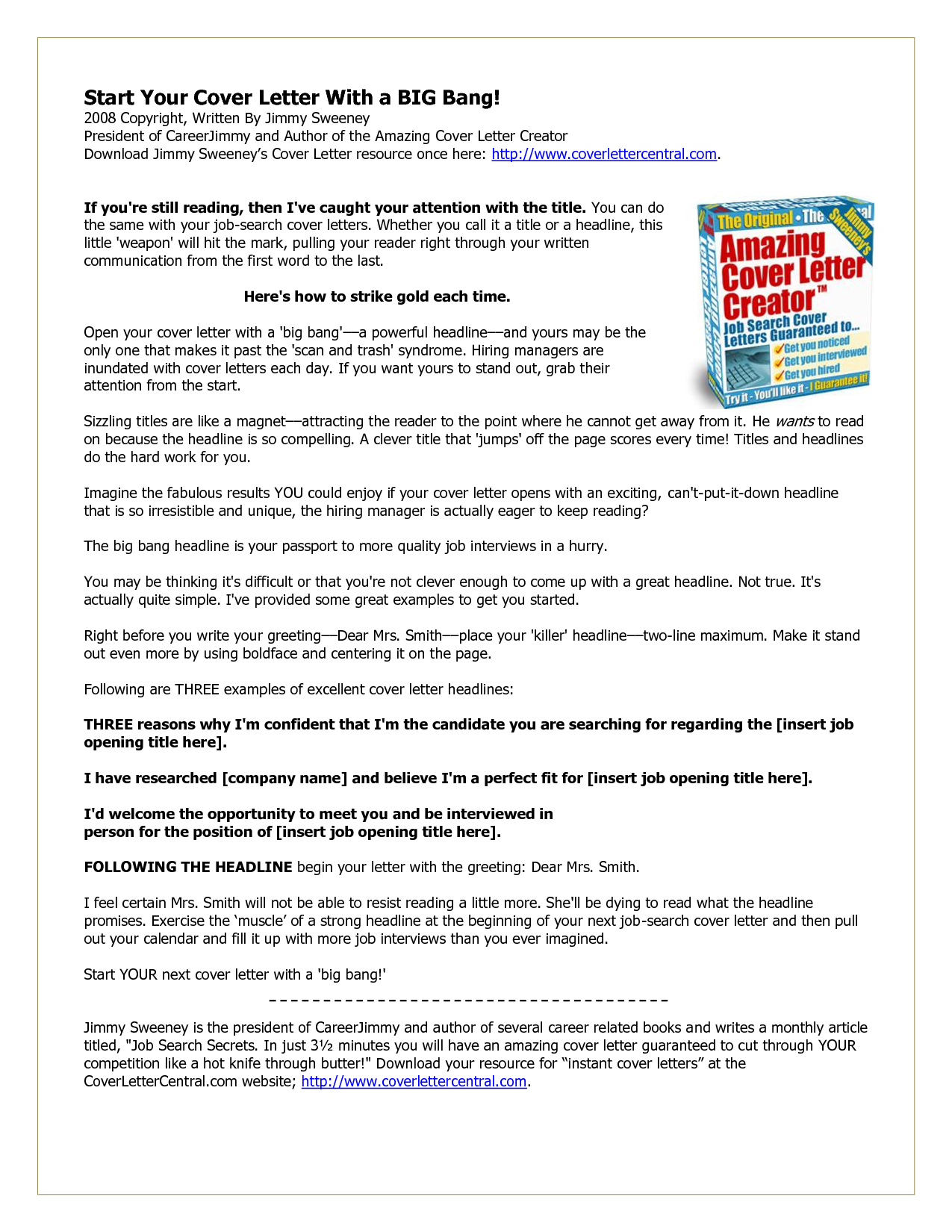 do you know how to get amazing cover letters pouted online magazine