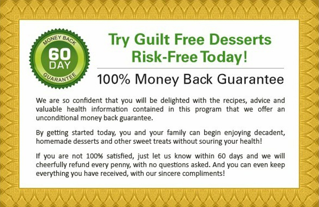 "gf-guarantee-web Enjoy Delicious Fat Burning Brownies That Make You Leaner By ""Guilt Free Desserts"""