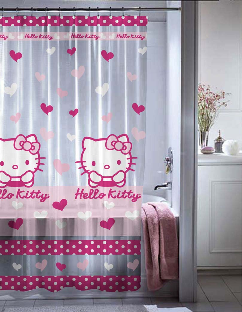 hello-kitty-PVC Fabulous And Stunning Colorful Bathrooms to Renew Yours