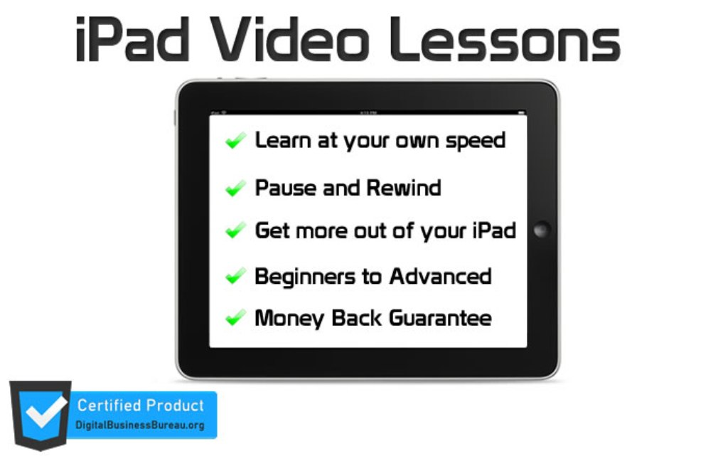 "iPad-VIdeo-Lessons Discover your iPad with ""ipad Video Lessons"""