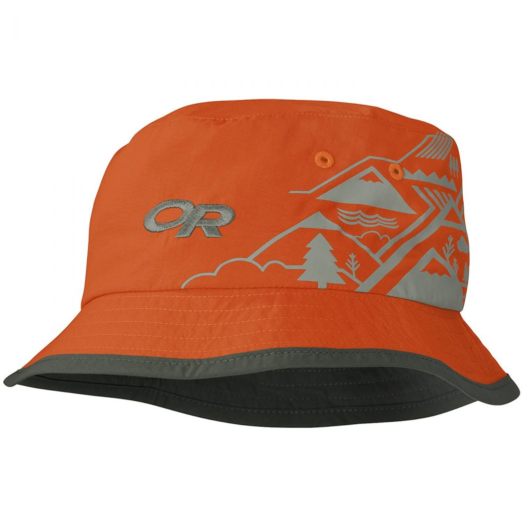 outdoor-research-solstice-bucket-hat-upf-30-for-kids-in-diablo-dark-grey-w-mountains What Are The Latest Fashion Trends of Men's Hats?
