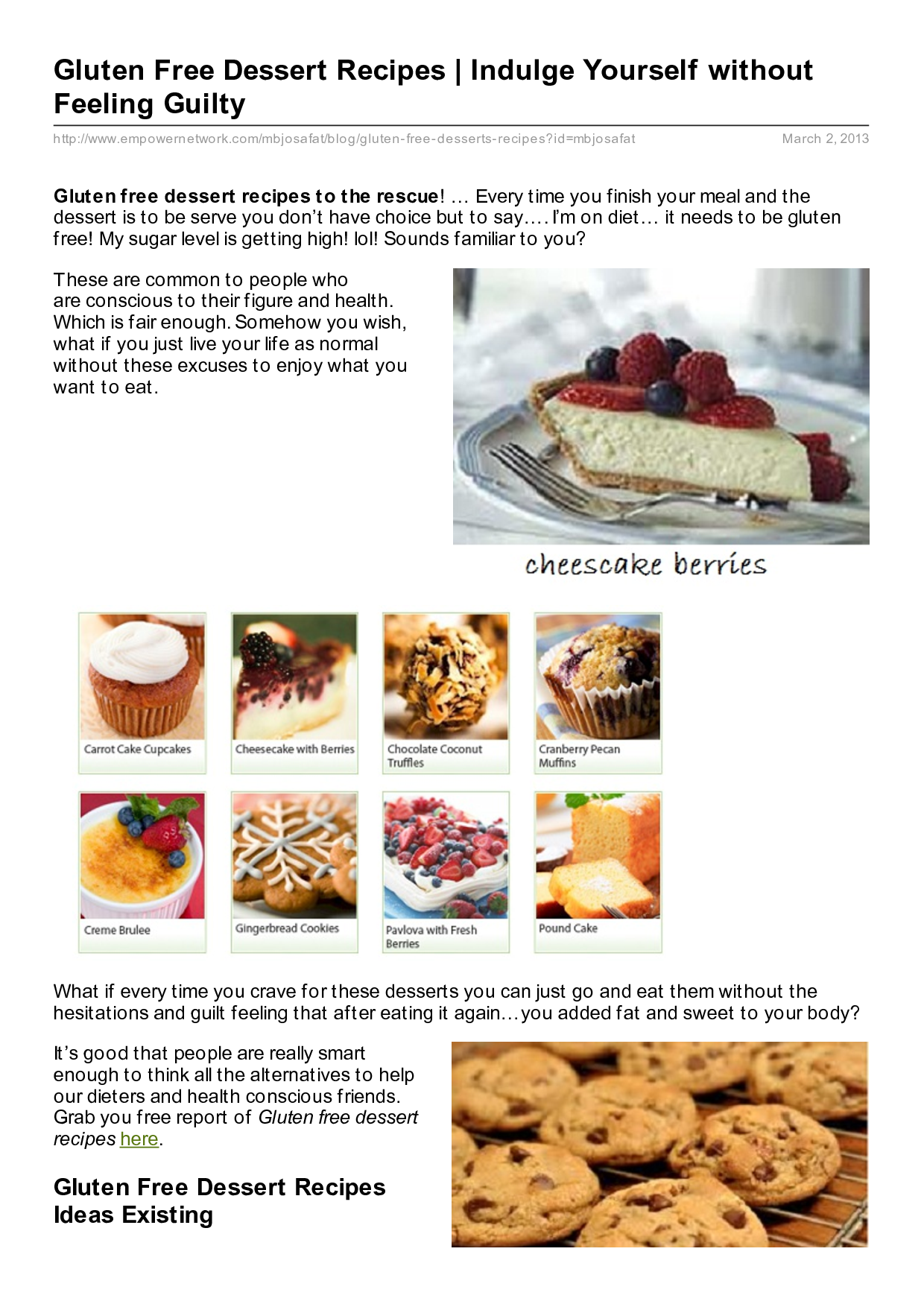 """recipes Enjoy Delicious Fat Burning Brownies That Make You Leaner By """"Guilt Free Desserts"""""""