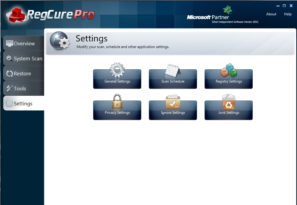 regcure-pro-settings-6 How to Perfectly Analyze Your Registry for Errors Using Regcure?