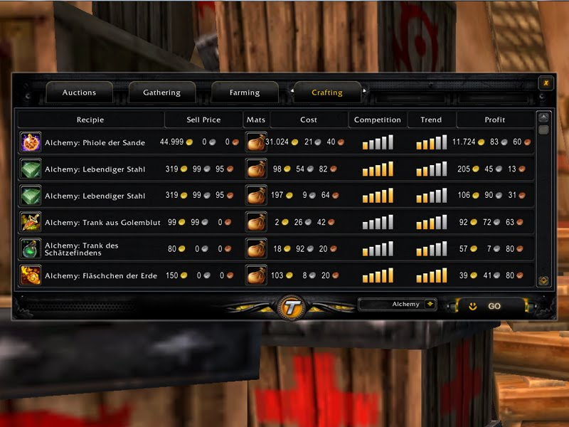 tycoon-gold-addon-crafting-alchemy How To Make Tons of Gold In WoW? Tycoon World of Warcraft Gold Addon Review