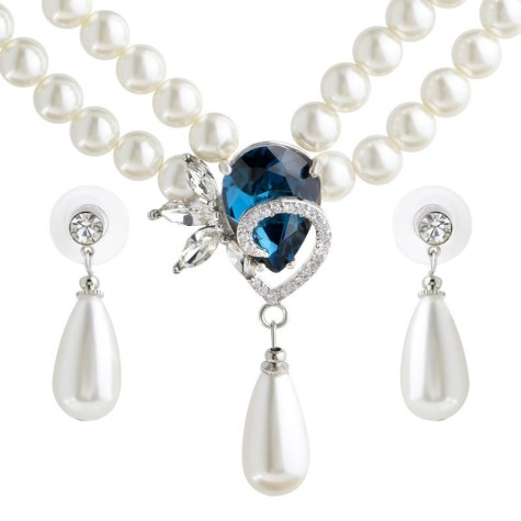 white-pearl-with-blue-crystal-jewelry-set_60522-475x475 What Are The Best Types Of Pearls For Evenings And Occasions?