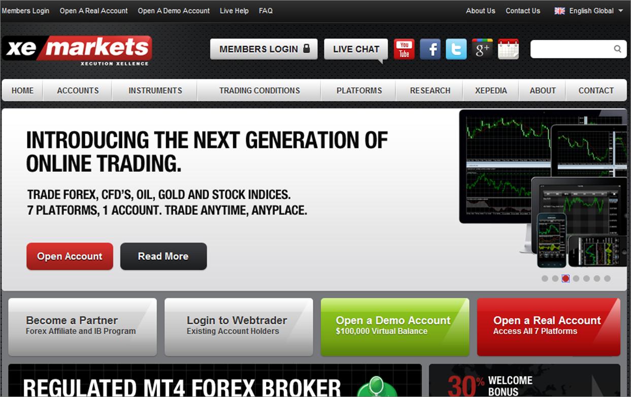 xemarkets Top 10 Forex Brokers
