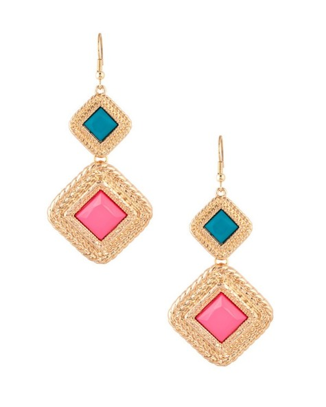 1-Geometric-Style-Golden-Earrings-from-Voylla.com-Rs.-499-475x593 How To Use Earrings With Straight Hair, Tied or with Veil