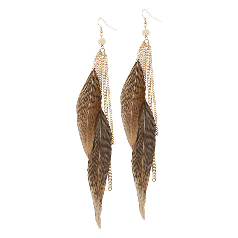 1-aldo-feather-earrings1-475x475 How To Use Earrings With Straight Hair, Tied or with Veil