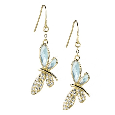 1-ear_dfae_golden_dragonfly_earrings-475x475 How To Use Earrings With Straight Hair, Tied or with Veil