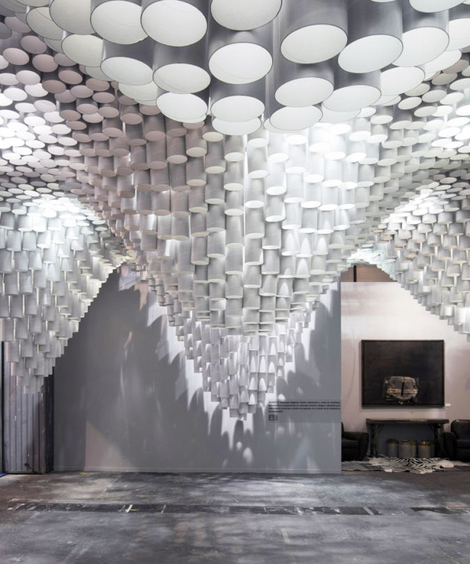 1-paper-chandeliers-by-cristina-parreno-at-arco-madrid-2013 Awesome and Dazzling Suspended Ceiling Decorations