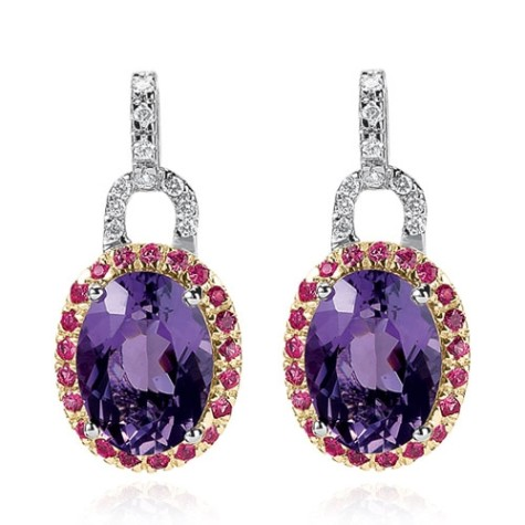 14k_white_gold_40ct_diamond_pink_sapphire_amethyst_oval_drop_ear_o1-475x475 How To Use Earrings With Straight Hair, Tied or with Veil