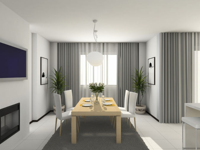 2013-Modern-Concept-For-Dining-Room-Curtain 20+ Awesome Images for the Latest Models of Curtains