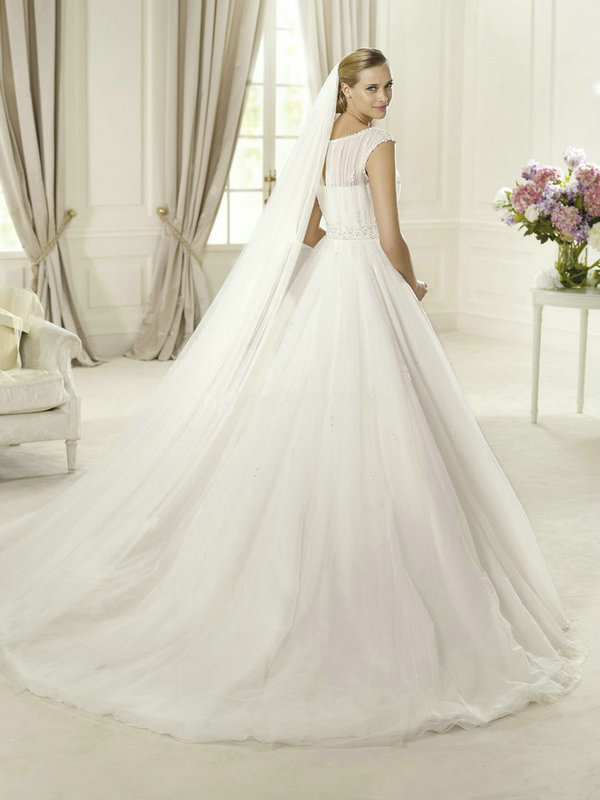 2013-Wedding-Dresses-with-long-sleeves-Tulle-elegant-Bridal-Gown-Under-200-Fast-Delivrery-tailor-made2011146 70 Breathtaking Wedding Dresses to Look like a real princess