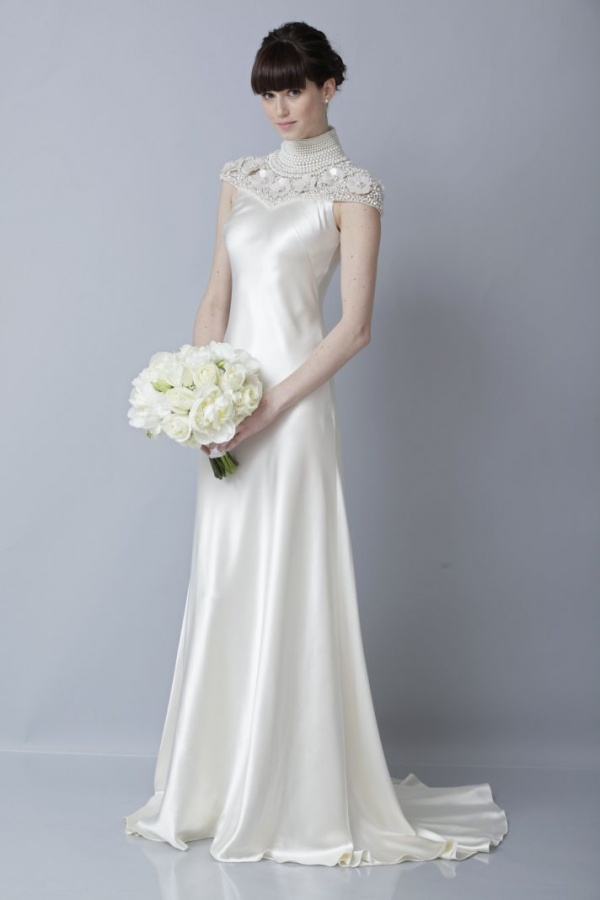2013-wedding-dress-by-theia-bridal-gowns-silk-cap-sleeves__full 70 Breathtaking Wedding Dresses to Look like a real princess
