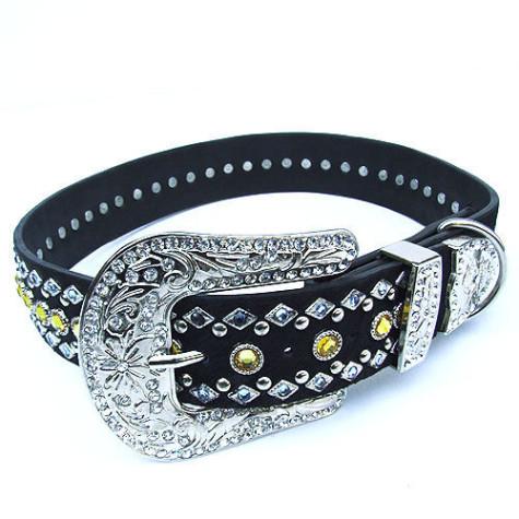 8032_Blue-Gold_Swarovski_Crystal_Collar-475x475 Dress Your Dog In Jewels
