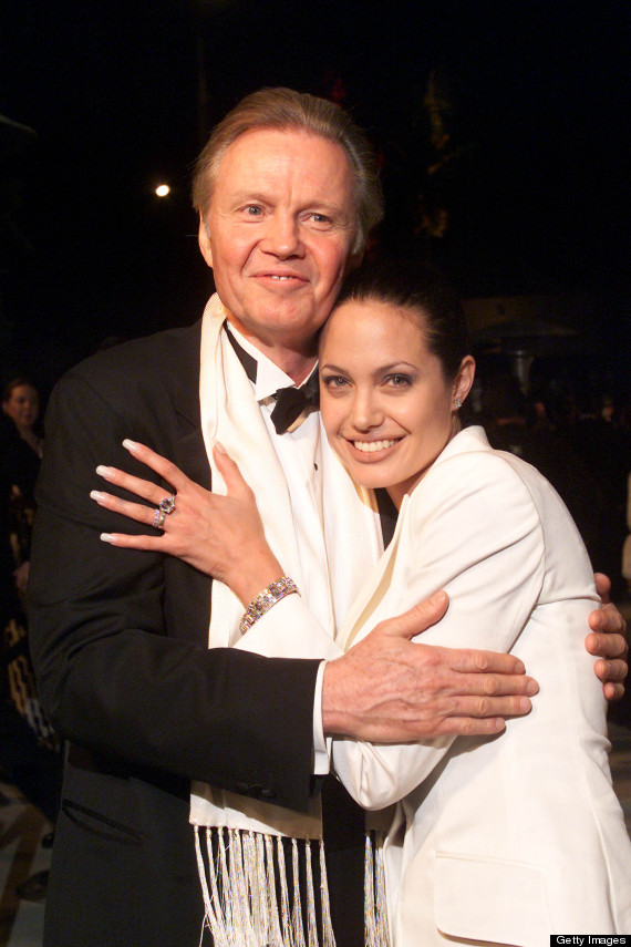 Angelina-with-her-father-JON-VOIGHT The Secret of Angelina Jolie's Double Mastectomy Is Now Revealed