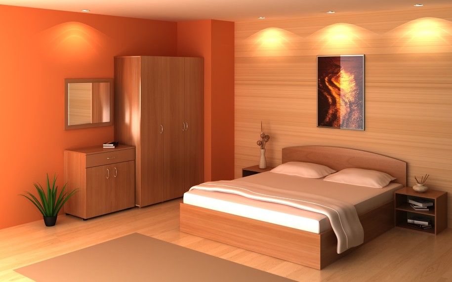 Attractive-Storage-Ideas-for-Modern-Bedrooms-Extraordinary-Bedroom-Decor-With-Wooden-Floor-And-Wooden-Storage-Furniture Fabulous Orange Bedroom Decorating Ideas and Designs