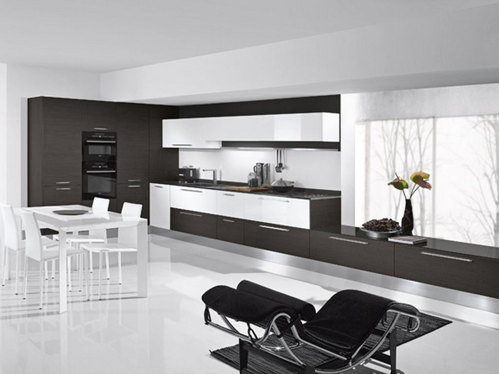 Awesome_Design_Modern_Black_White_Kitchen_And_Dining_Room Awesome German Kitchen Designs