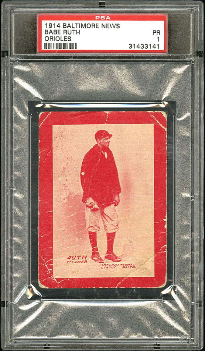 Babe-Ruth List of the World's 10 Most Expensive Baseball Cards