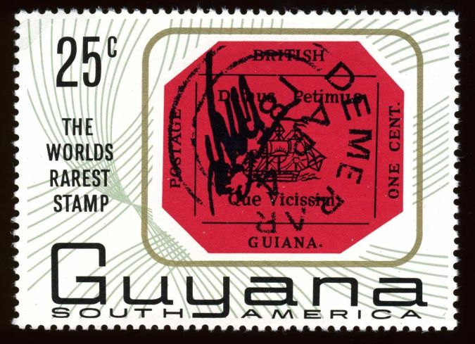 British-Guiana-One-Cent-Black-on-Magenta Top 10 Most Expensive Stamps in the World