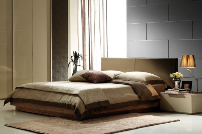 Brown-Rug-Brown-Curtain-Interior-Design-in-Bed-Room-Decor 20+ Awesome Images for the Latest Models of Curtains