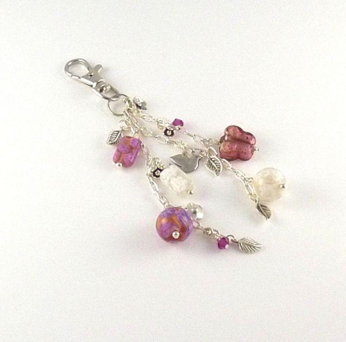 C-Handmade-handbag-or-keyring-charm-with-pink-Millefiori-beads_sm 23 Most Creative Handmade Gift Ideas