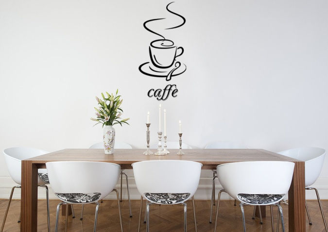 Caffe-vinyl-wall-decal Amazing and Catchy Wall Stickers for Home Decoration