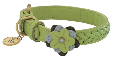 Celery-Petal-Leather-Dog-Collar-475x268 Dress Your Dog In Jewels