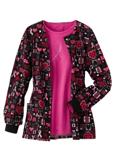 Cherokee-Scrub-HQ-Caring-for-the-Cause-print-scrub-jacket-475x686 Demonstrate Your Devotion For Breast Cancer And Wear Its Jewelry