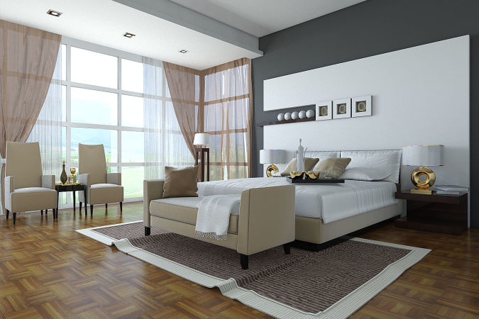 Classic-black-and-white-master-bedroom-design 20+ Awesome Images for the Latest Models of Curtains