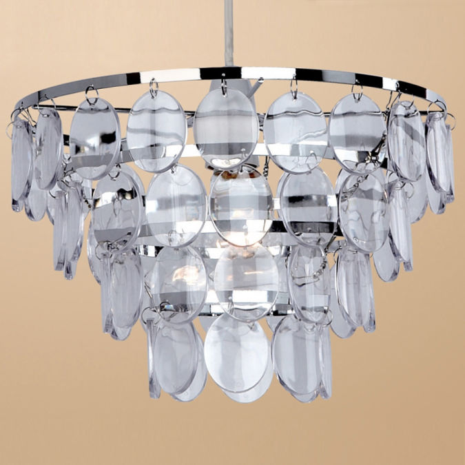 Clear-Disco-Pendant-Shade Awesome and Dazzling Suspended Ceiling Decorations