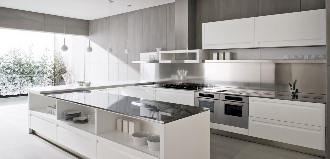 Contemporary-white-kitchen-design-white-island Breathtaking And Stunning Italian Kitchen Designs