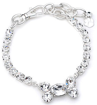 Crystal-Dog-Necklace-CC006M-Puppy-Jewelry-Collar-Medium-Bone-On-Large-Stone Dress Your Dog In Jewels