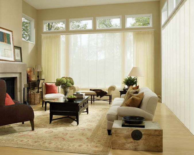 Curtain-Ideas-for-Living-Room-With-Decorative-Lighting 20+ Awesome Images for the Latest Models of Curtains