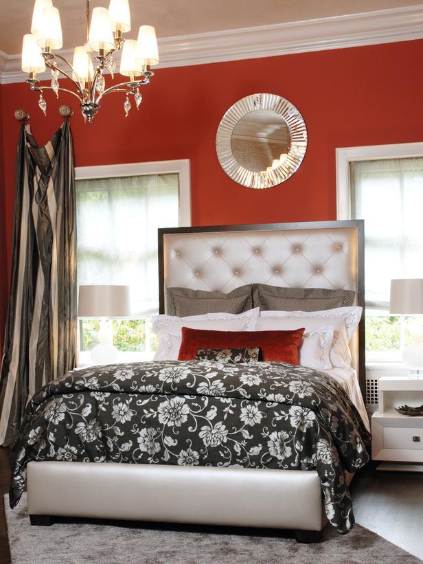DP_Marlaina-Teich-Modern-Orange-Bedroom Fabulous Orange Bedroom Decorating Ideas and Designs