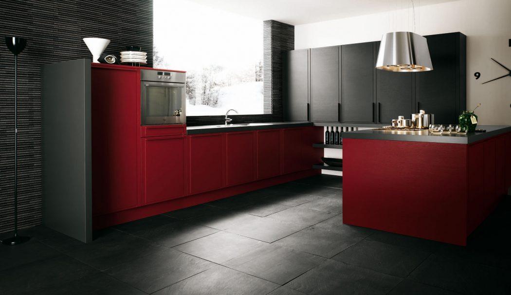 Dark-Red-Kitchen-Decor Breathtaking And Stunning Italian Kitchen Designs