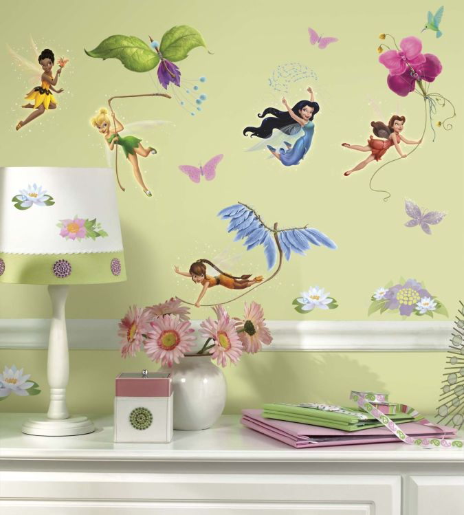 Disney-Fairy-Stickers-for-Wall-RMK1493SCS-room.jpg Amazing and Catchy Wall Stickers for Home Decoration
