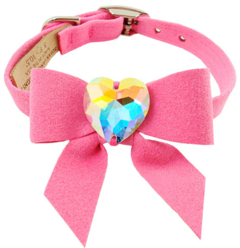 Dog-Collars-C034M-Fancy-Pet-Collars-Designer-Swarovski-My-Sweet-Bow-Collar1-475x491 Dress Your Dog In Jewels