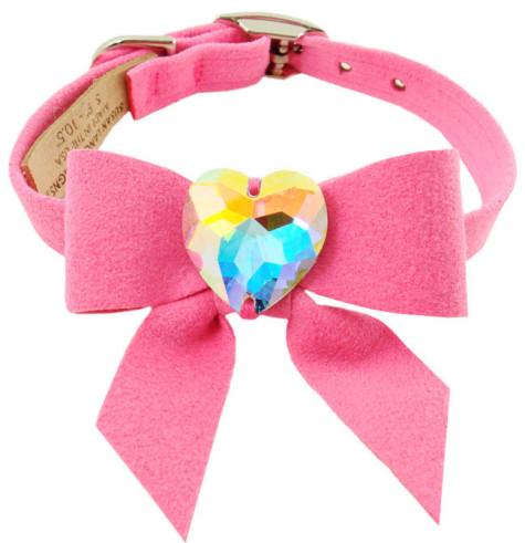 Dog-Collars-C034M-Fancy-Pet-Collars-Designer-Swarovski-My-Sweet-Bow-Collar1-475x491 Dress Your Dog In Jewels
