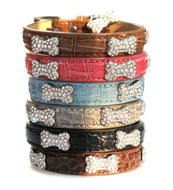 DogBoneCrystalCollars Dress Your Dog In Jewels